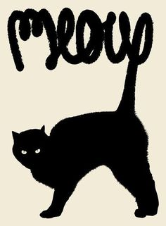 Meow Art Print by Speakerine / Florent Bodart #meow #illustration #cat