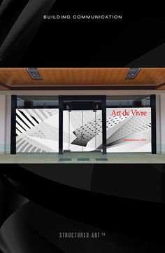 Store window graphic #black white #art #illustration #gradation #scale #graphic #focused #storefront #design