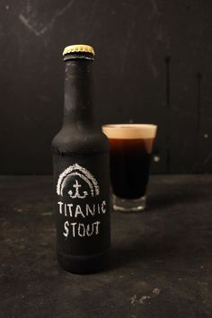 Stout Beer Chalkboard Packaging - By Laurence Smith