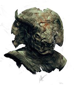 old demon head thing by jeffsimpsonkh on deviantART #demon #head