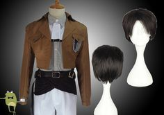 Attack on Titan Levi Ackerman Cosplay Costume + Wig