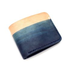 indigo dyed wallet #leather #indigo