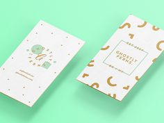 Ghostly Cards by Ghostly Ferns #business #card #ghostly #turquoise #gold #ferns