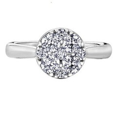 Estoria(1.00CT) - Cluster Engagement Rings Collection