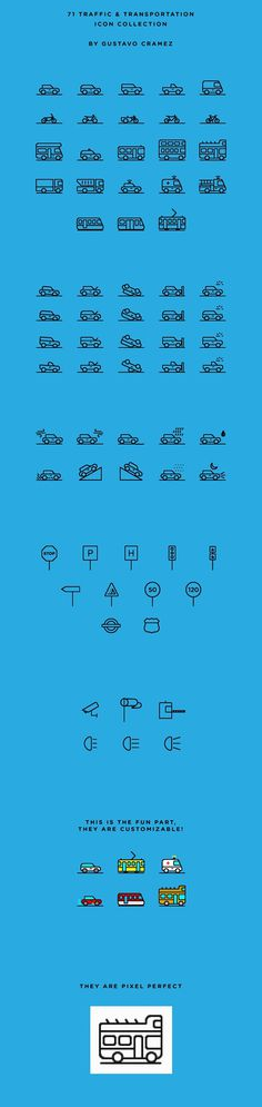 71 Traffic & Transportation Icon Collection | Free on Behance