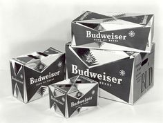 Budweiser's 'Bowtie Shape' Can The Dieline #packaging #beer #retro