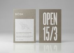 Bösk — Natural Reserve Program | Calendar — Branding & Graphic Design Bureau #business #branding #card #identity #logo