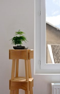 VAC Stackable Stool 01 by Jean Charles Amey, via Behance #furniture #jeancharlesamey #stool