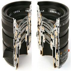 FFFFOUND! | Cross Section Views of Leica Lenses #cut #leica #len