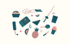 Teas & Tarts #icon #word #chest #graphic #illustration #chicken #deisgn #editorial #magazine