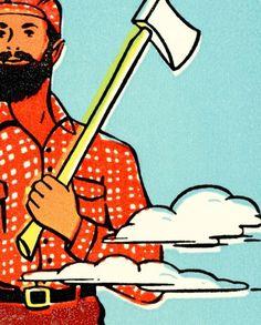 CSA / Flat File #flat #file #print #retro #lumberjack #csa #vintage