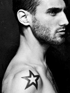 star #hair #man #facial #star