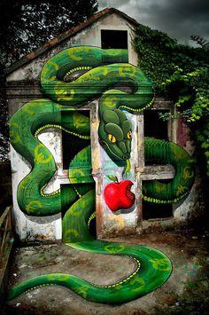 jux_sokram2 #mural #snake