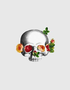 Anatomy & Roses on Behance #death #life