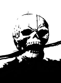 skull #white #black #scream #and #skull #death