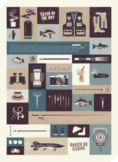 Gone Fishing - Jordon Cheung #illustration #icon