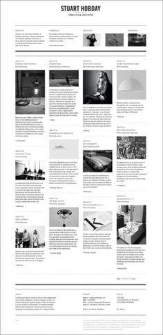 Stuart Hobday | Gridness #monochrome #grid #design #web