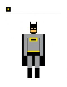 SQUARED SUPERHEROES #icon #grid #square #batman
