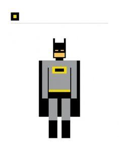 SQUARED SUPERHEROES #grid #icon #square #batman