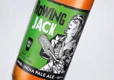 AleBrowar Rowing Jack #packaging #beer #label #bottle