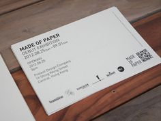 baseline workshop / made of paper invitation #graphics #graphic #prints