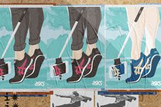 ASICS poster campaign selfiestick #illustration #sneakers #asics #selfie #poster #wall #street #illustration #sneakers #asics #selfie #poste