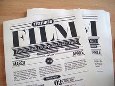 Textures Film on the Behance Network #blackwhite #festival #design #graphic #film #typography
