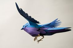 Paper Birds by Andy Singleton | Colossal #paper #bird