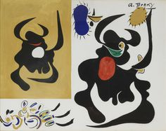 Arshile Gorky, Study for Bull in the Sun, 1942