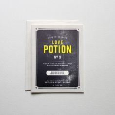 Love Potion No. 9 #printmaking #card #letterpress #stationery #typography
