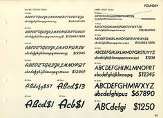 Daily Type Specimen | This specimen page shows Gillies Gothic and Kabel. #typography