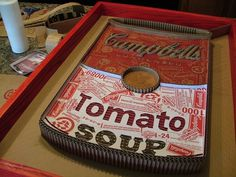Logos Created from Corrugated Cardboard - 1-800-Recycling #logo #recycling #soup #recreated #campbells