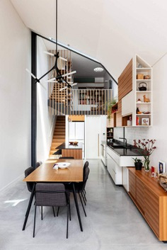 contemporary dining room, Anderson Architecture