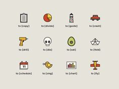 avocado icons #icons #iconography #toicon