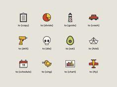 avocado icons #icons #iconography #toicon