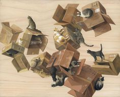 Cinta Vidal Cardboard Cats