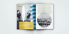 Surfing Magazine Editorial 2012 - Joy Stain #editorial #print #surfing #surf #magazine #spread #layout #typography