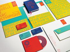 Logo and Identity for Parc Olympique by lg2boutique #color #collateral #stationery