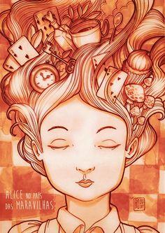 Alice in Wonderland #illustration #inspiration #alice in wonderland