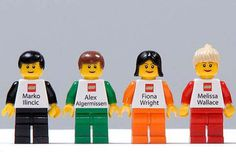 Lego Figures #business #design #graphic #cards #3d