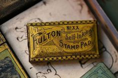 Self Inking Stamp Pad Tin #design #vintage