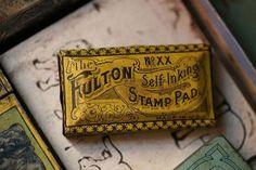 Self Inking Stamp Pad Tin #design #vintage