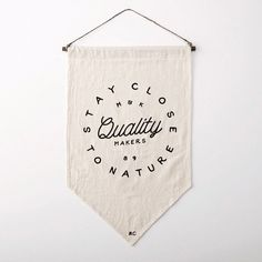 Stay close to nature #lettering #flag #design #paint #morecreme #art #type #typography