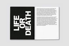Life Or Death by DIA #print #graphic design #book #editorial