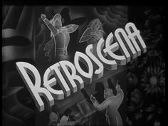 Retroscena (1939) Title Card #movie #lettering #title #card #vintage #type