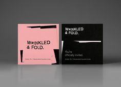 Wrinkled & Fold — Graphic Art Project | Calendar — Branding & Graphic Design Bureau #black #typography
