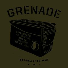 Grenade Box #ink #box #handmade #pen #and #grenade