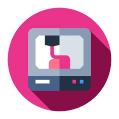 See more icon inspiration related to 3d, business and finance, ui, 3d printer, equipment, electronics, electronic, plastic, production, engineering, industry, printer and technology on Flaticon.