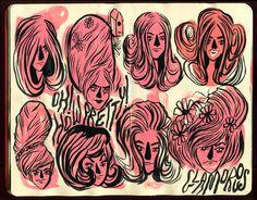 Krista Perry - Sketchbook No. 4 #illustration #sketchbook #moleskin