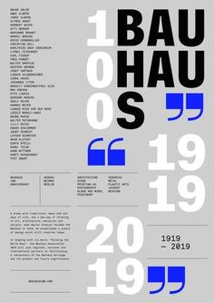 Bauhaus 100 years Poster